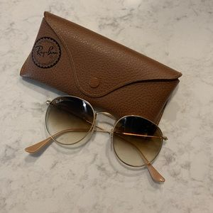 Ray-Ban Round/Metal Gold Sunglasses